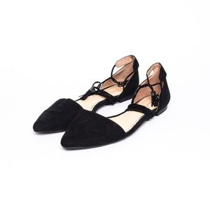 Jessica Simpson Suede Lace Up flats Size 8.5